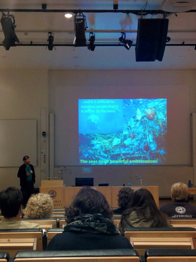 A presentation on using marine animals as ocean ambassadors