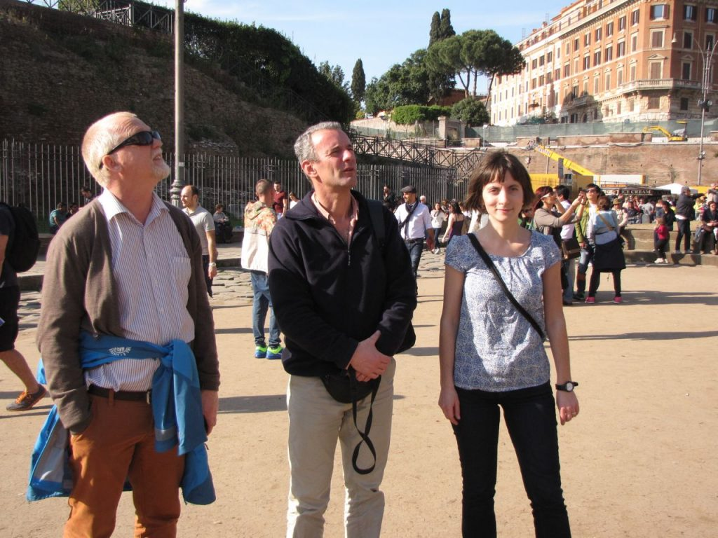 A day in Rome with (left to right) Andy, Jorge Santos and Melanie Borit from the Arctic University of Norway